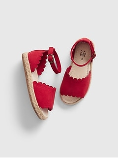 bee9c8777 Toddler Scalloped Espadrille Sandals