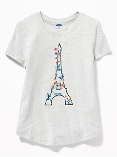 dcaeaa772d7 Graphic Crew-Neck Tee for Girls
