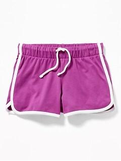 d69416035 Jersey Dolphin-Hem Cheer Shorts for Girls