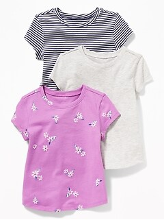 79777f3b Crew-Neck Tee 3-Pack for Toddler Girls