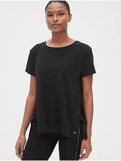 dc097698 GapFit Breathe Side-Tie T-Shirt