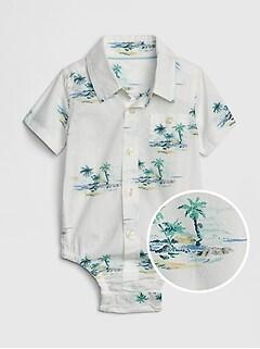 0e3e222ca Baby Print Short Sleeve Bodysuit
