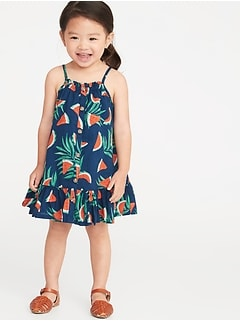 40d23c7abee1 Printed Button-Front Tiered Dress for Toddler Girls
