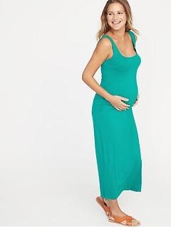 74d9a3957c105 Maternity Side-Slit Maxi Tank Dress