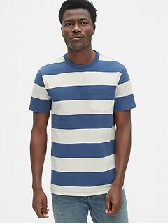 b6d745f668d19 Heavyweight Stripe Pocket T-Shirt