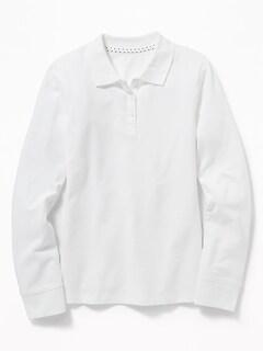 228fe615b Uniform Long-Sleeve Pique Polo for Girls