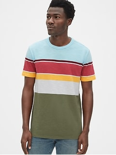 6d2f11a4008e1 Vintage Slub Jersey Stripe Crewneck T-Shirt