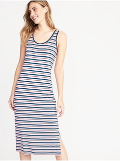 dc9b841fe7d48 Fitted Midi Tank Dress for Women
