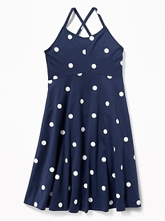 bae024c43 Printed Jersey Fit & Flare Cami Dress for Girls
