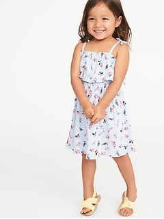 0ba95200d2aa Printed Jersey Ruffled Fit & Flare Dress for Toddler Girls