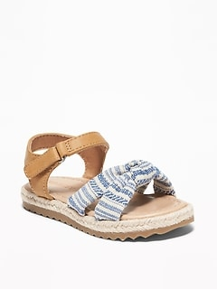 fd1ad9081b2 Knotted Linen-Blend Espadrille Sandals for Toddler Girls