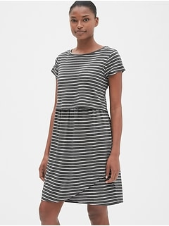4945fb1aa38 Maternity Stripe Layered Nursing T-Shirt Dress