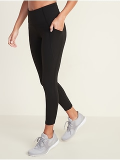 a1f45106b8140 High-Rise Elevate Side-Pocket 7/8-Length Compression Leggings for Women