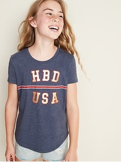 d907f29a507 Graphic Crew-Neck Tee for Girls