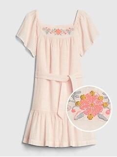 2fd8d5c49bb Kids Tie-Belt Squareneck Dress