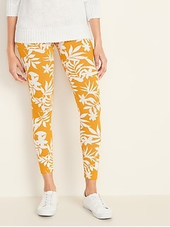 2236f0af3bfa5 Mid-Rise Printed Jersey Leggings for Women