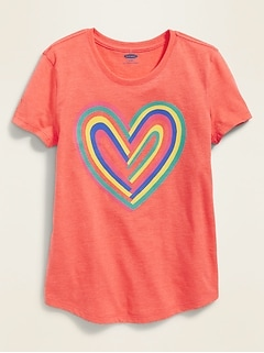 73e07044fcd9 Graphic Curved-Hem Tee for Girls