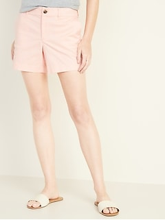 9b808599dc741 Mid-Rise Twill Everyday Shorts for Women -- 5-inch inseam
