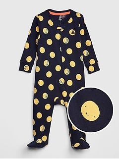 fbc6dcbbc Baby Print Footed One-Piece