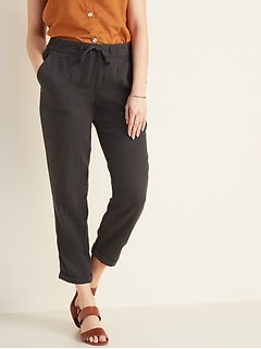 47180774144 Mid-Rise Soft Twill Pull-On Utility Pants for Women