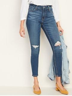ba6df1a28d48a High-Rise Secret-Slim Pockets Rockstar Distressed Super Skinny Jeans for  Women