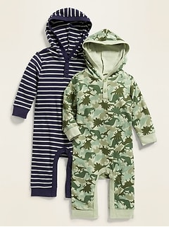 1dda6c4c21c4d Hooded Printed Henley One-Piece 2-Pack for Baby