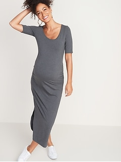 5406ae6055dfd Dresses. Maternity Jersey Elbow-Sleeve Maxi