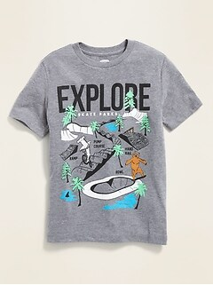 818bc63f29a7 Graphic Crew-Neck Tee for Boys