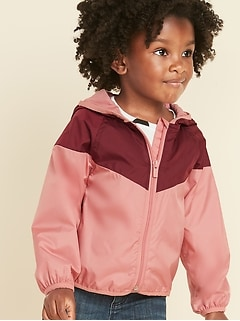 6d8102300b9 Hooded Color-Blocked Windbreaker for Toddler Girls