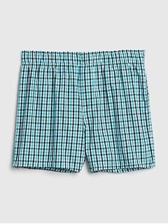 Gap Mens 3 Pc Set Multi Print Cotton 4 Boxers Green Blue Red Plaid Pizzas