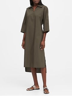 JAPAN EXCLUSIVE Poplin Shirt Dress