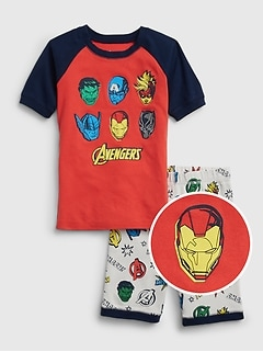 gap kids Boys Size 8-9 Avengers icons Red Tee