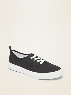 Oldnavy Twill Uniform Elastic-Lace Sneakers for Girls