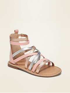 Oldnavy Strappy Faux-Leather Gladiator Sandals for Toddler Girls