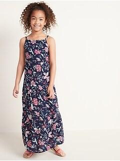 Sans manches tulipes Print femmes évasée chasuble gilet Long Top Mini robe taille 8-26