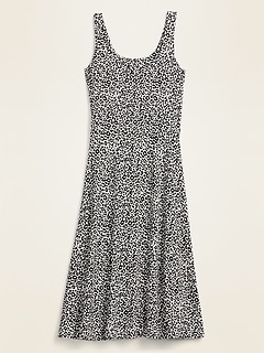 Oldnavy Sleeveless Jersey-Knit Fit & Flare Midi Dress for Women