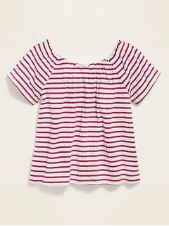 Infant /& Toddler Girls Outfit Metallic Pink Sweater Stripe Shirt /& Jeggings
