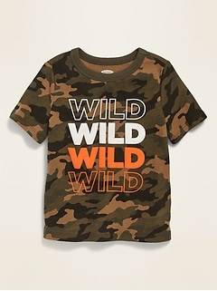 Oldnavy Puff-Print Graphic Crew-Neck Tee for Toddler Boys