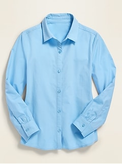 Oldnavy Uniform Long-Sleeve Shirt for Girls Hot Deal