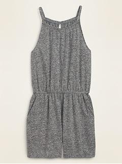 Oldnavy Sleeveless Linen-Blend Jersey Romper for Women