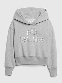 Kids Embossed Gap Logo Hoodie,light heather grey