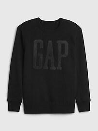 Kids Gap Logo Crewneck Sweatshirt,grenadine orange