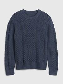 갭 키즈 남아용 꽈베기 니트 스웨터GAP Kids Cable Knit Crewneck Sweater,blue indigo