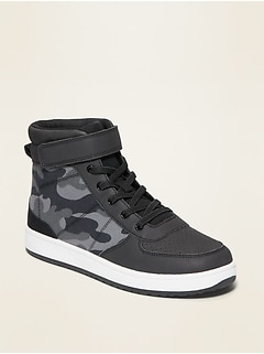 Oldnavy Camo Secure-Close Strap High-Top Sneakers for Boys