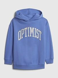 갭 GAP Teen Oversized Optimist Hoodie,twinkle blue