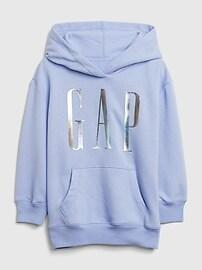Kids Gap Logo Tunic Hoodie,rosehip