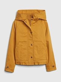 갭 GAP Kids Cropped Utility Jacket with Stretch,gold plate