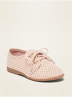 Oldnavy Perforated Faux-Suede Oxford Shoes for Toddler Girls