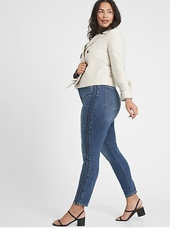 bananarepublic Curvy High-Rise Side Stripe Medium Wash Skinny Jean