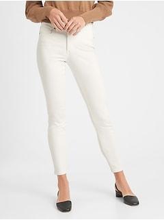 bananarepublic Mid-Rise White Skinny Jean